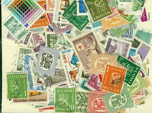 Finland Stamp Packet of 300 All Different Fine Used Stamps