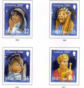 Jersey  Sc 970-3 2000 Christmas stamp set used