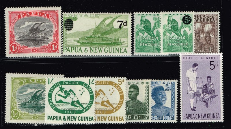 PAPUA NEW GUINEA  STAMP COLLECTION LOT  #1