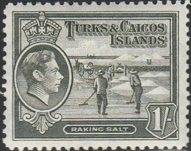 Turks & Caicos, #86A MNH From 1938-45