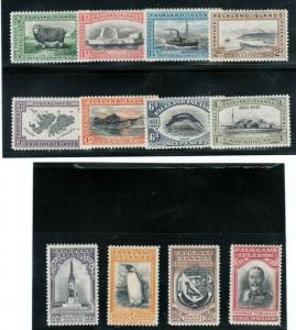 Falkland Islands #65 - #76 (SG #127 / #138) Very Fine Mint 1933 Centenary Set
