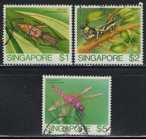 Singapore Scott 461-463 Used
