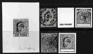 Bahamas group of six stamp-size Photographic prints from ...
