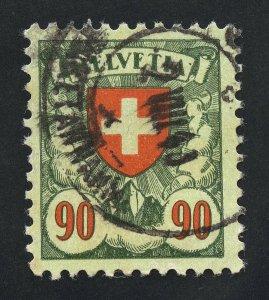 01877 Switzerland Scott #200a, 90c used CDS cancel, grilled gum