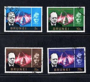 Brunei, Scott 120-123   VF,  Used,  CV $6.55  ....0980162