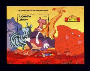 UGANDA - 1994 - DISNEY - LION KING - SIMBA - KINGDOM - MINT - MNH S/SHEET!