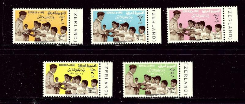 Iraq 273-77 MNH 1961 World Childrens Day  #2