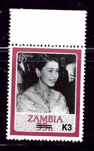 Zambia 402 MNH 1987 surcharge    (ap3117)