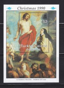 Turks and Caicos Islands 877 MNH Christmas, Art, Paintings