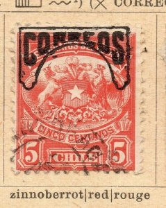 Chile 1904 Early Issue Fine Used 5c. Optd NW-09225