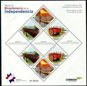 HERRICKSTAMP NEW ISSUES COSTA RICA Independence IV Sheetlet of 6