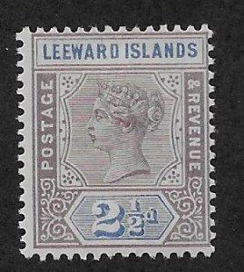 LEEWARD ISLANDS SC# 3  F/MOG 1890