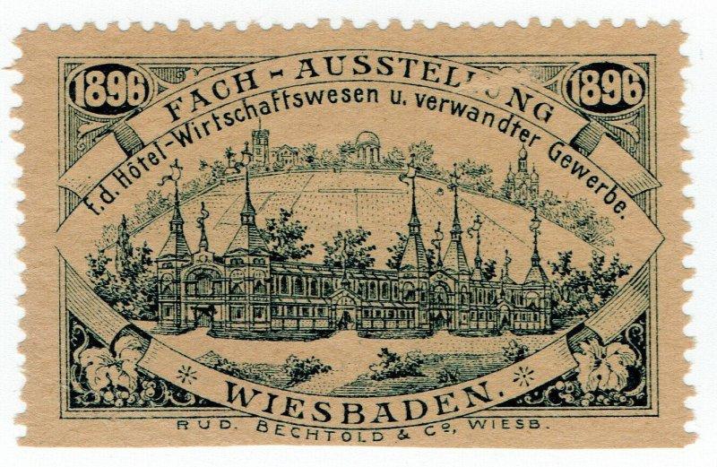 (I.B) Germany Cinderella : Hotel Exhibition (Wiesbaden 1896)