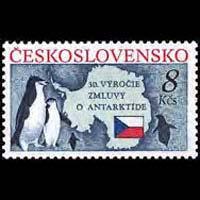 CZECHOSLOVAKIA 1991 - Scott# 2827 Antarctic Set of 1 NH