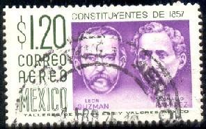 General Leon Guzman & Ignacio Ramirez, Mexico SC#C237 used