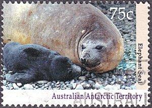 Australian Antarctic Territory # L84 used ~ 75¢ Elephant Seal