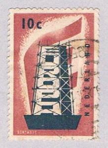 Netherlands 368 Used Rebuilding Europe 1956 (BP32622)