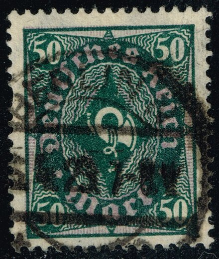 Germany #184 Post Horn; Used (2Stars)