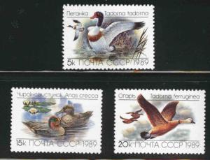Russia Scott 5783-5785 MNH*** 1989 Duck bird set