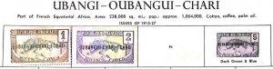 A) 1915-27, UBANGI-SHARI, CENTRAL AFRICAN REPUBLIC, PART OF FRENCH EQUATORIAL AF