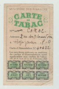 France Ration stamps complete revenue fiscal 7-7- rare item