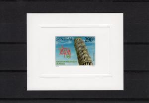 Senegal 1998 Leaning Tower of Pisa Italy 98 Deluxe Sc # 1344