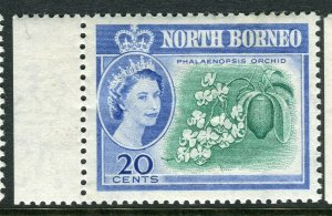 NORTH BORNEO; 1961 early QEII issue fine Mint hinged Marginal value, 20c