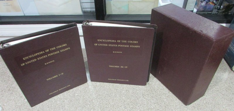 RH White Encyclopedia of Colors US Stamps Volumes 1-4