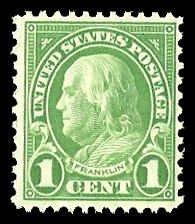 PCBstamps   US # 632 1c Franklin, MNH, (6)