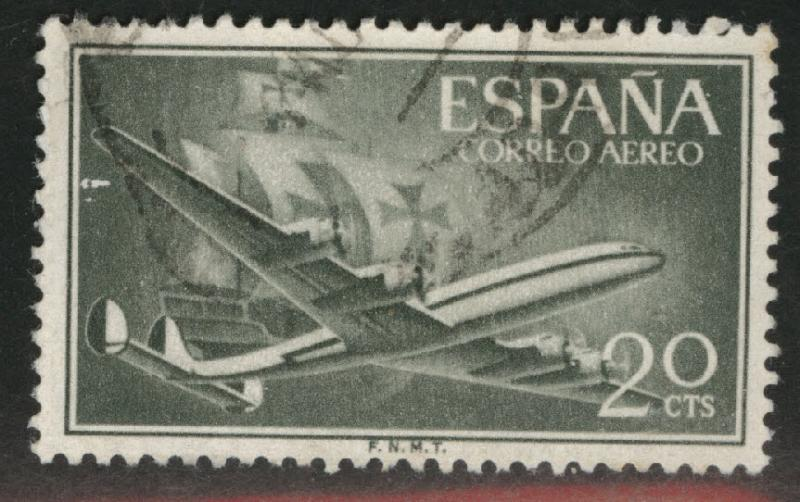 SPAIN Scott C147 Used from 1955-56 Airmail set