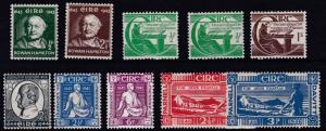 IRELAND  1943 - 46    S G  131 - 139    VARIOUS  COMMEMS      MH  & MNH