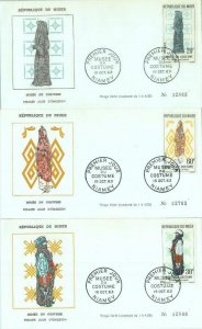86326 - NIGER - POSTAL HISTORY - Set of 3  FDC COVERS 1963 - Ethnic types