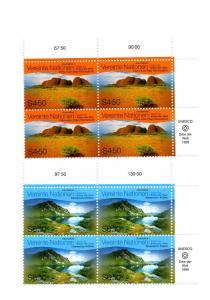 UN Vienna-Scott's #250-251 Australia - Insription Blocks -M NH