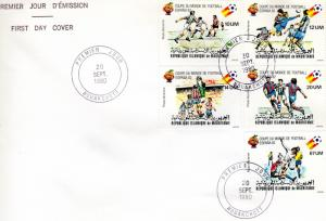 Mauritania 1980 Sc#C196/C200 Football World Cup'82 Set(5) FDC