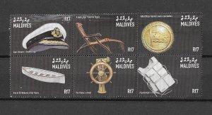 Maldives MNH Block Relics Titanic Ship