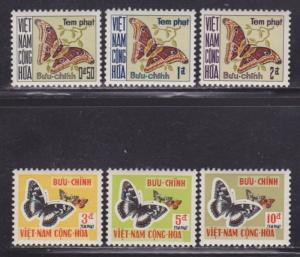 Vietnam Scott # J15-J20 VF never hinged set nice colors cv $ 52 ! see pic !