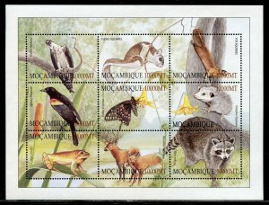 MOZAMBIQUE  FAUNA SET OF TWO SHEETS OF NINE EACH  MINT NEVER HINGED