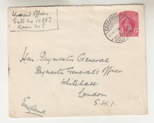 GOLD COAST, ENVELOPE, 1925 1d. KGV, SECCONDEE, Military Rate, Warrant Officer