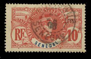 SÉNÉGAL - 1908 CACHET À DATE DE RUFISQUE SUR 10c FAIDHERBE
