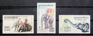 Laos 1958 Laotian Elephants MNG 3 Values A22P2F7677