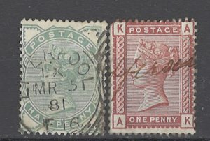 COLLECTION LOT OF # 1925 GREAT BRITAIN #78-79 1880 CV=$26