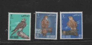ABU DHABI #12-14  1965 FALCON PERCHED ON WRIST   MINT VF LH  O.G