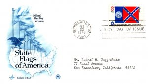 United States, District of Columbia, First Day Cover, Georgia, Flags