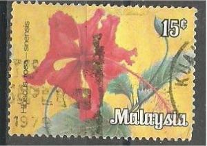 MALAYSIA, 1979, used 15c, Flowers, Scott 195