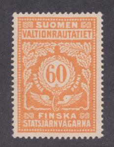 Finland HS 44B MNG. 1918 60p State Railway Tax Stamp