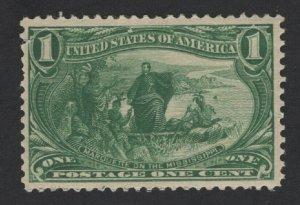 United States MINT Scott Number 285 MVLH  F-VF  -  BARNEYS