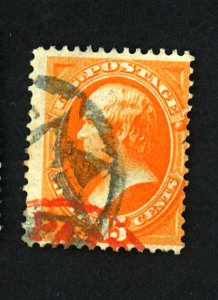 163 Used Ave-Fine Red And NYFM Cancels Cat $170