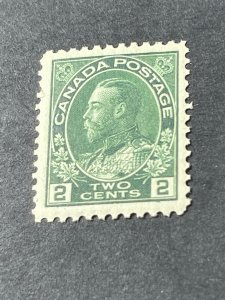 CANADA # 107--MINT/NEVER HINGED---YELLOW/GREEN----SINGLE----1922