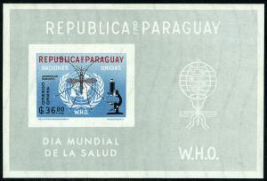 Paraguay 683a S/S, Imperf., Mnh.who Drive To Eradicate Malaria.emblem, Zanzare,