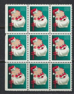 JASTAMPS: 9 - 1951 Christmas Seals Santa Clause Back of Book Poster Stamps MNH